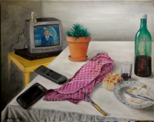Una giornata qualunque - olio su tela- 50x40 cm - 2015