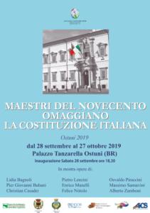 Maestri del Novecento Omaggiano la Costituzione Italiana